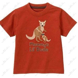 Sz. 12-18 mos.Mommy's Little Dude Kangaroo Tee